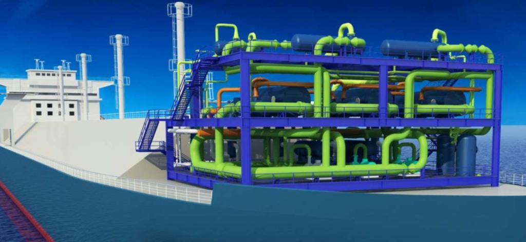 Regasification Module for FSRU